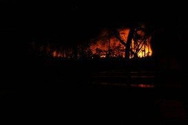 28.2 när befolkningnen brände skräp spred sig bränderna lätt. Jag var nästan mer rädd den här natten än under Winston