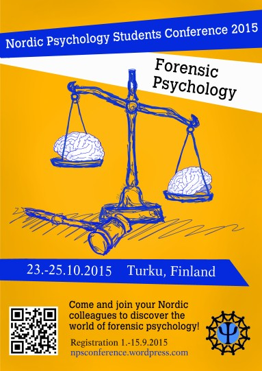Nordic Psychology Students Conference 2015, poster and merchandise
